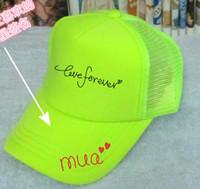 Perakende Boş Floresan yeşil şapka canbe Özelleştirilmiş Net caps LOGO baskı reklam şapkaları snapback beyzbol şapkası Doruğa şapka