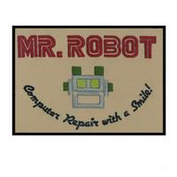 Hot Sale Mr. Robot Hoge kwaliteit geborduurde ijzer / naaien op warmte verzegelde jas backing of cap bags patch