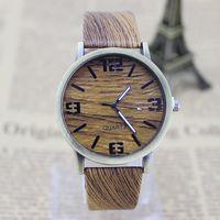 Clássico De Bambu De Madeira Relógio New Arrival Mulheres Relógios De Pulso De Alta Qualidade Do Estilo Do Vintage Men Dress Watch Relógio De Quartzo De Couro PU
