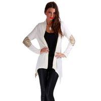 Frauen Pailletten Casual Mantel Mode Sunblock Top Bluse Jacke Graben Parka Gute Verkauf Schöne S / M / L / XL Outwear Strickjacke