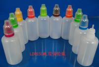 Dropper 병 50ML childproof 탬퍼 증거 캡 드롭 병 플라스틱 포장 병 DHL, 전자 cig 석유 병 diy 병을 통해 무료 배송
