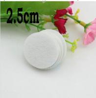 5 % OFF 꽃 Flatback 2.5cm 라운드 서클 펠트 액세서리 화이트 컬러 패치 펠트 패브릭 펠트 패드, DIY 꽃 material1000pcs / lot