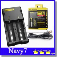 Nitecore I2 Chargeur universel pour 16340/18650/14500/26650 Batterie E Cigarette 2 en 1 Multi Intellicharger US UK EU AU PLUG Sample