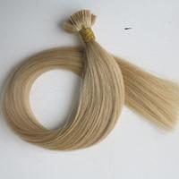 사전 접착 플랫 팁 인간의 머리카락 확장 50g 50Strands 18 20 22 24inch # 22 브라질 인도 헤어 제품
