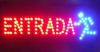 Spanische Wörter fertigten geführte ENTRADA Zeichen neon ins Auge fallende Slogans ENTRADA Zeichenlichter halb-im Freiengröße 48cm * 25cm Freies Verschiffen