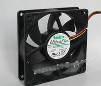 Оригинальный Nidec T92T12MHA7-53 9225 9 см NBR гидравлический подшипник вентилятор охлаждения с 12V 0.14 A 2400 об / мин 25dbA 92X92X25MM 3 провода 3pins разъем