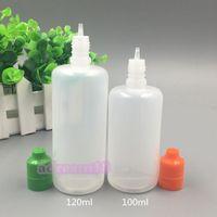 120ml E Plastic Flüssigkeitsflasche Kindersichere manipulationsTropfKappe Lange dünne Flüssigkeitstropfen E-Flüssigkeitsflaschen PE weich 120 ml manipulationsLeerFlasche