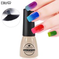 Commercio all'ingrosso-Elite99 7ml Cambiamento di temperatura Campione Camaleon Cambiamento Colore Soak Off UV Nail Gel Polish Gel UV Scegli 1 da 54 colori