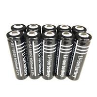 Noir Ultrafire 18650 Haute capacité 6000mAh 3.7V Li-ion Batterie rechargeable pour lampe de poche à LED Caméra numérique Piles au lithium Chargeur