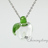 Lampwork Glas ätherisches Öl Halskette Diffusoren Diffusor Halskette für ätherische Öle ätherisches Öl Diffusor Anhänger Halsketten