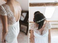 Abiti da sposa a buon mercato in chiffon con scollo a V, maniche in pizzo, maniche lunghe, abiti da sposa
