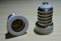 Freies Verschiffen E14 bis E12 Lampen-Basis-Adapter-Wandler-Birnen-Adapter-LED-Halogen-CFL-Glühlampe-Lampe