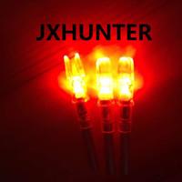 3ピーク高品質ストリングアクティブ化自動明るい照明矢印wid 6.3mm狩猟矢印赤い色