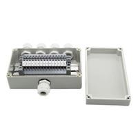 IP65 Su Geçirmez Kablo Kablo Bağlantı Kutusu 1 4 out ile 158 * 90 * 60mm UK2.5B Din Ray Terminal Blokları ile