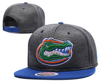 Gorras Snapback de Fútbol americano universitario de New Caps 2017 Cap Color gris Sombreros de Florida Team Mix Match Order Todas las gorras en stock Sombrero de calidad superior al por mayor