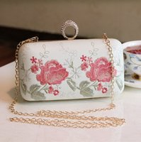 Fabulous Embroidery Flowers Flap Bridal Hand Bags 2016 Vinta...