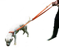 Нейлон двойной поводки веревка с двумя крючками для малых и средних собак регулируемая неопрена мягкий свободные руки Pet поводок приводит 2 м