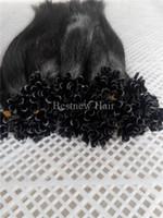 """100 g 16 """"18"""" 20"""" 22"""" 24"""" # 1b naturel 1 g Noir Kératine U Nail Tip pré-liée Indian Remy Extensions de cheveux humains droite"""