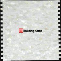 Mosaique de coquille de mer sans couture en nacre, dosseret MOP007 sans coulis, en nacre blanche, mosaïque pour salle de bain