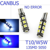 T10 5050 13SMD T10 13smd 5050 13led Canbus Error Free Car Li...