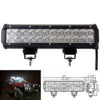 12 tum 72W Cree LED Light Bar Off-Road 12V 24V 4x4 bil Jeep Offroad Traktor Truck Arbete Körning Ljusstång IP67 Spot Flood LED Lighting Bar