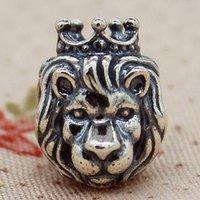 Yüksek kaliteli 100% 925 Ayar Gümüş Iplik Aslan Charm Boncuk Avrupa Pandora Charm Takı Bilezikler Kolye Uyar