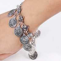 Gypsy Antique Silver Turkish Coin Bracelet Jewelry Ethnic Tr...