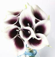 Partido hogar de la boda para la flor artificial Mini cala para la boda del ramo de tacto verdadero envío HP008