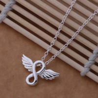 Heißer 925 Sterlingsilber hängende Halskette Engel pated nette Geburtstagsgeschenkfabrik preiswerte Großverkaufqualität freies Verschiffen