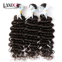 3Pcs Lot 8-30Inch Indian Deep Wave Curly Virgin Hair Grade 7A Unprocessed Raw Indian Remy Human Hair Weaves Bundles Natural Black Extensions