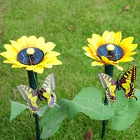 Delicieux 8 Photos Wholesale Plastic Butterflies For Garden Online   New Arrival  Solar Rotational Movement Of Simulation Sunflower Butterfly