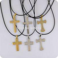 12 pcs inglês bíblia oração do senhor cruz de aço inoxidável pingente de colar christian católico moda jóias religiosas atacado