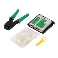 Netwerkkabel Tester Tools Kits 4 in 1 Draagbare Ethernet RJ45 Hoofd Krimping Crimper Stripper Punch Down RJ11 CAT5 CAT6 Draadlijn Detectoren