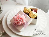Scatole di caramelle rosa romantiche Scatole di favore Scatole di nozze Scatole di bomboniere Spedizione gratuita