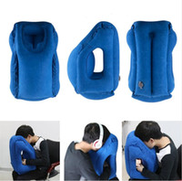 Travel pillow Inflatable pillows air soft cushion trip porta...