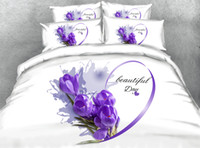 Purple Floral 3D Printed Bedding Sets Twin Full Queen King C...