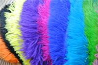 Venta al por mayor 100pcs / lot 12-14inch (30-35cm) blanco azul real rojo negro turquesa naranja oro verde púrpura marfil oro pluma de avestruz