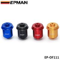Tansky - EPMAN Sport Universal JDM الألومنيوم فلتر الوقود عالية التدفق قابل للغسل (أحمر، أزرق، أسود، ذهبي) EP-111