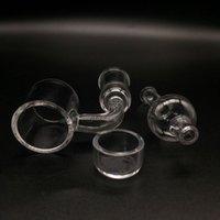 DHL grátis !! 2mm XL flat top quartz banger prego com Quartzo removível Inserir tigela e tampa de vidro carb para Glass Bongs Oil Rigs