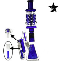 glass bong 23 inches freezable coil system water pipe high q...
