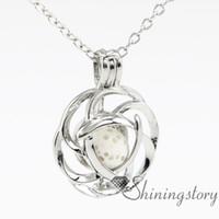 Celtic gümüş madalyon aromaterapi kolye kokulu kolye madalyon mücevher aromaterapi takı küçük madalyon kolye yağı difüzör kolye