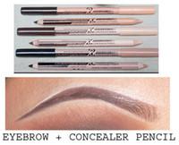 Wholesale-48pcs/lot maquiagem eye brow Menow  Double Function Eyebrow Pencils & Concealer Pencils maquillaje