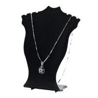 أبيض أسود البلاستيك قلادة القرط قلادة مجوهرات عرض موقف حامل الدعائم تخزين الرف صغير 12 سم عالية