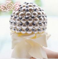 5 Renk Zarif Inci Düğün Çiçekleri Mini Gelin Buketleri Kristal Sparkle Buket Gelin Nedime Düğün Buketi