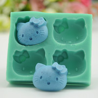 Hello Kitty Chocolate Candy Jelly Mould Silicone Cake Pan Mo...