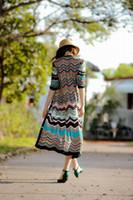الجملة سيدة أزياء المرأة الملونة مخطط سترو شاطئ الصيف أحد قبعة بنما