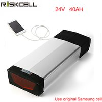 Batteria posteriore Platinum Ebike Batteria 24V 40Ah Batteria agli ioni di litio con fanale posteriore e caricabatterie +2.0 USB Usa cellulare Samsung 18650