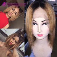 1b 27 ombre short bob human hair wig Lace front wig Full lac...