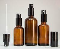 Großhandel 30ml 50ml 100ml Braunglas Sprühflaschen Für Eliquid Öl Parfüm mit Black Cap Sprayer Pump 330pcs / 264Pcs / 280pcs Auf Lager Verkauf