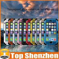 Redpepper Extreme Durable Strike Закаленное Стекло Металлический Водонепроницаемый Противоударный Пылезащитный Дайвинг Чехол Для Iphone 6 6 Plus С Розничной Упаковке